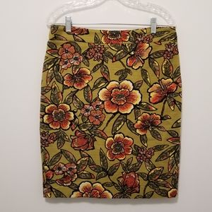 LOFT floral pencil skirt -- Rich Floral Pattern